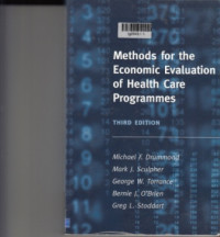 Image of methodos for  the economic evaluation of health care programmens.